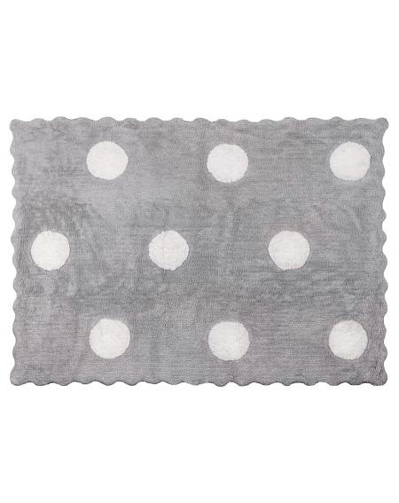 Alfombra 100% Algodón 120x160 cms  Colección Topos